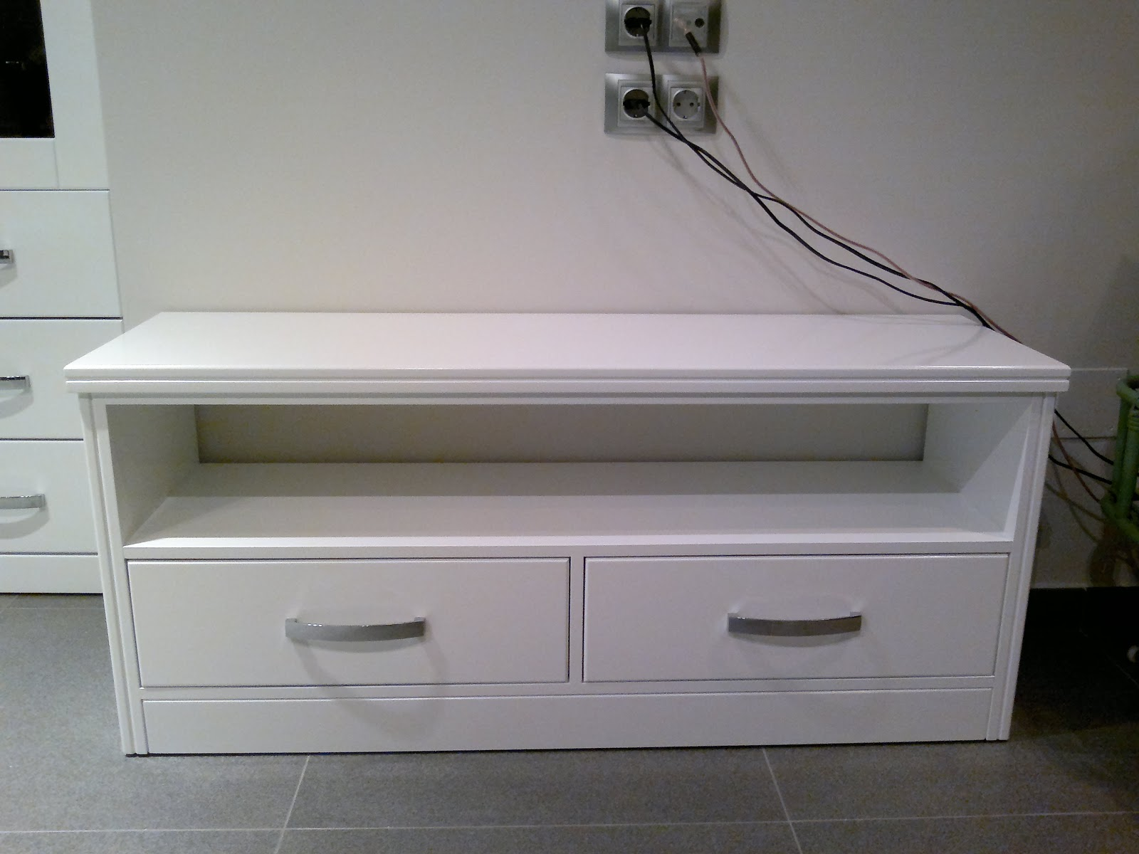 Josecremadescarpinteria muebles lacados en blanco brillo - Muebles lacados en blanco brillo ...