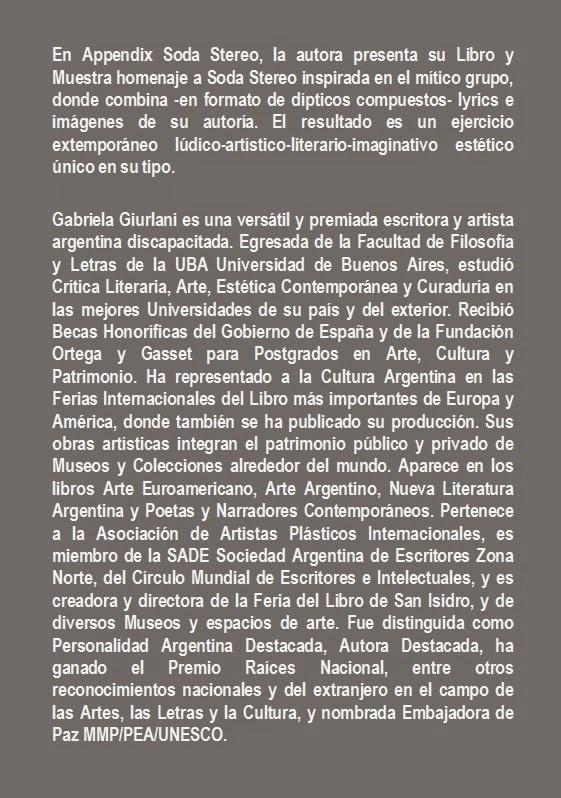 MAAC - Appendix Soda Stereo de Gabriela Giurlani