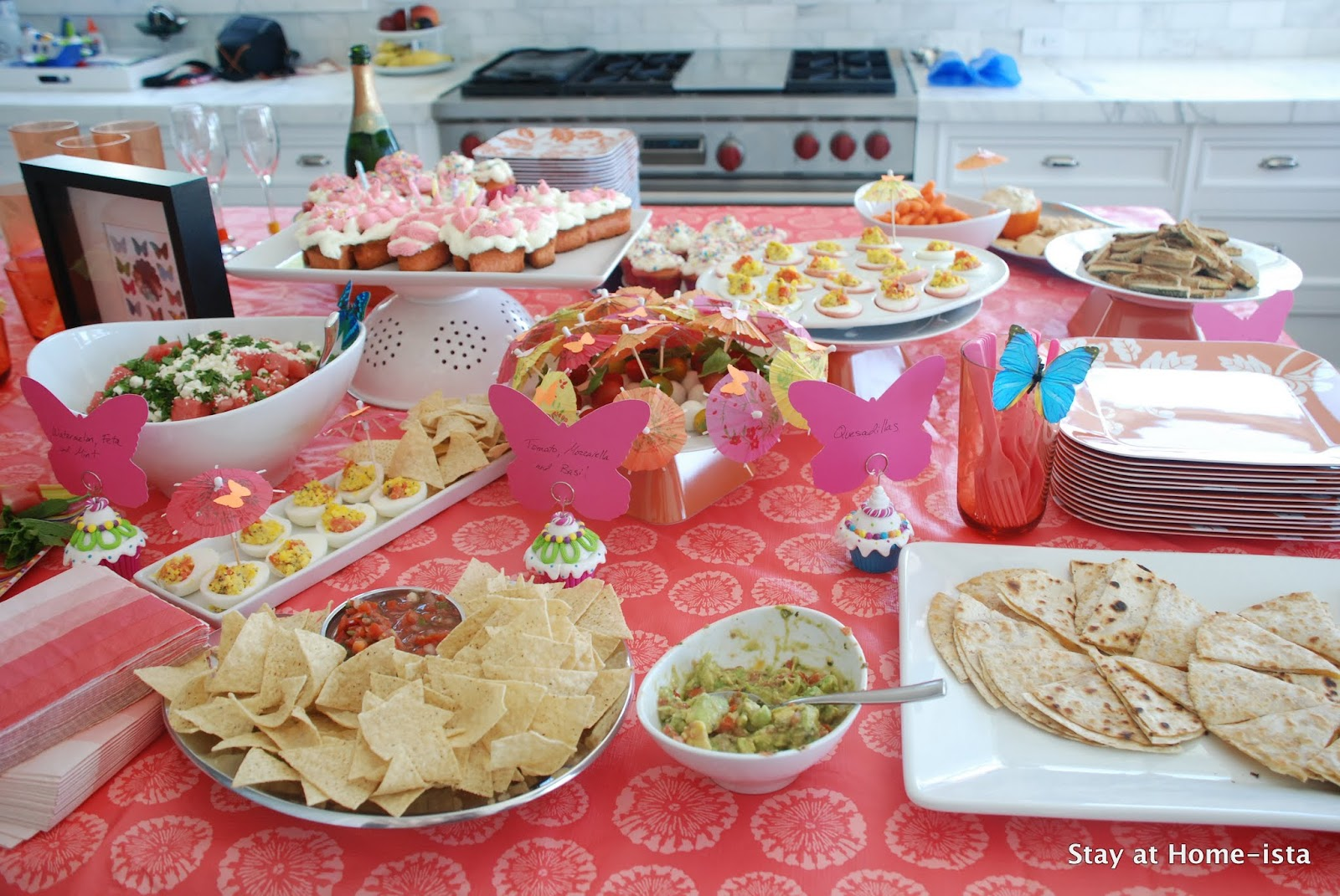 Stay at home ista summer party menu food for a butterfly for Summer food party ideas