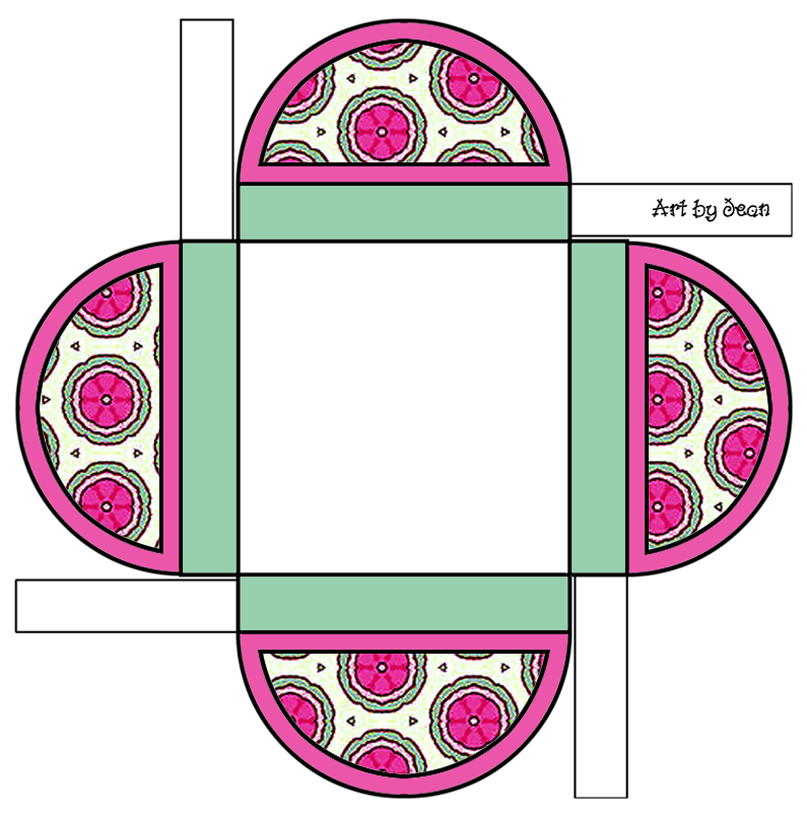 Printable Boxes Different Color Combinations And