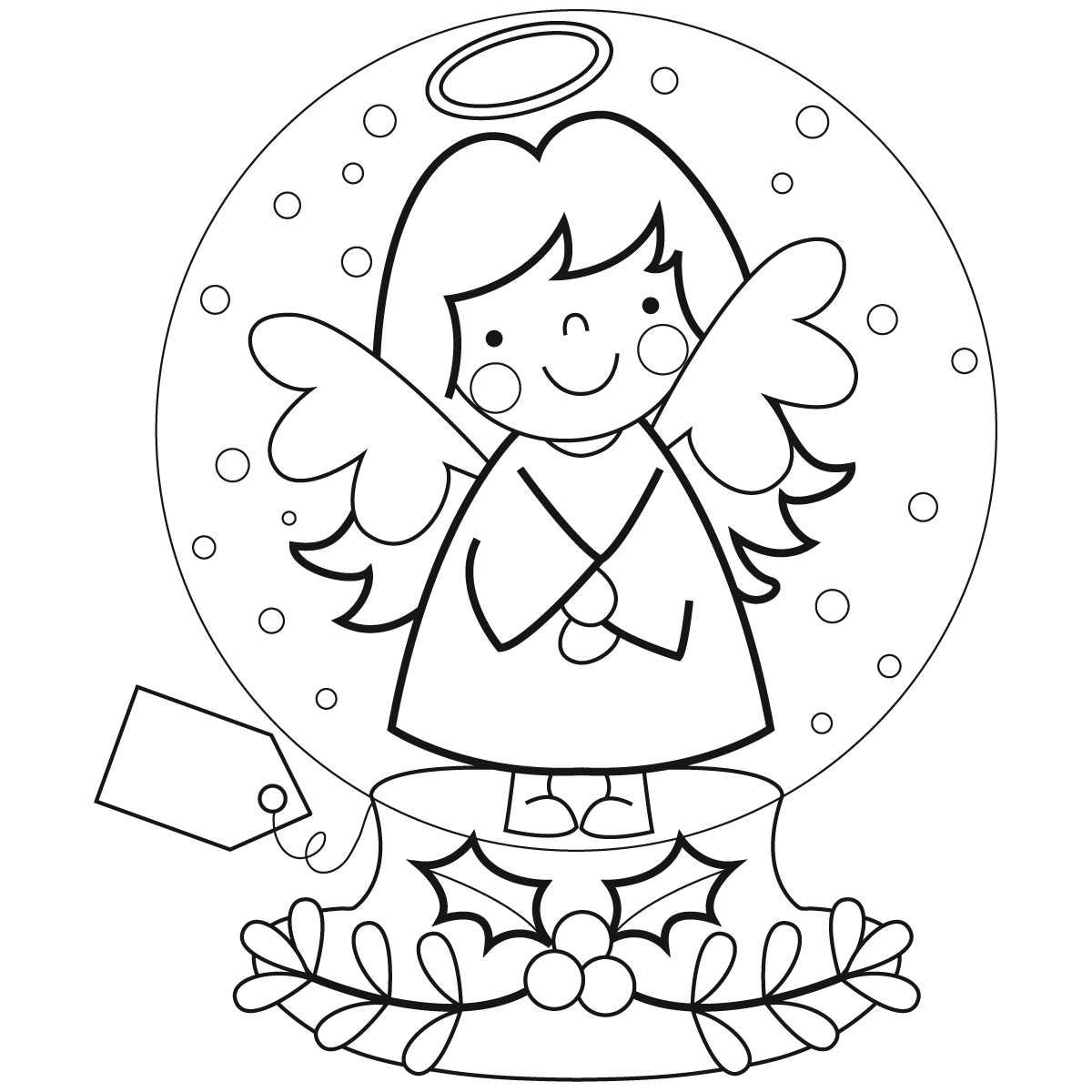 christmas snow globes coloring pages - photo#6