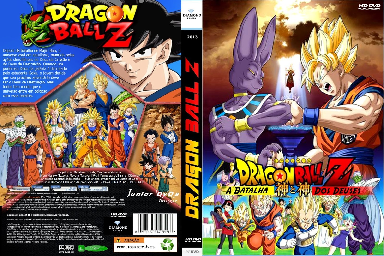 Dragon Ball Z A Batalha dos Deuses DVD Capa