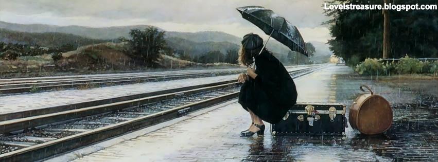 facebook covers   Alone sad girl facebook - Love ...