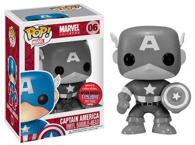 Gemini Collectibles Black & White Captain America Pop! Marvel Vinyl Figure Bobble Head by Funko