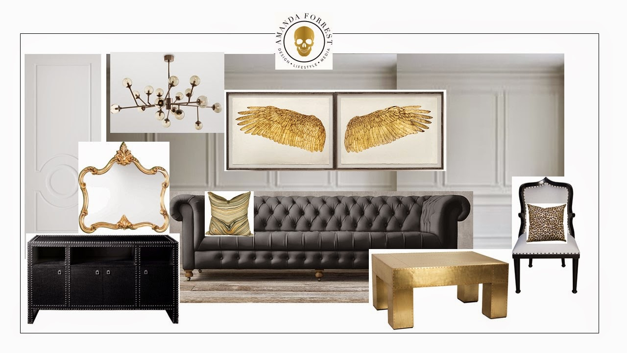 I Little Inspiration For The Weekend, A Grey And Gold Design Scheme From Me  To You. Part 96