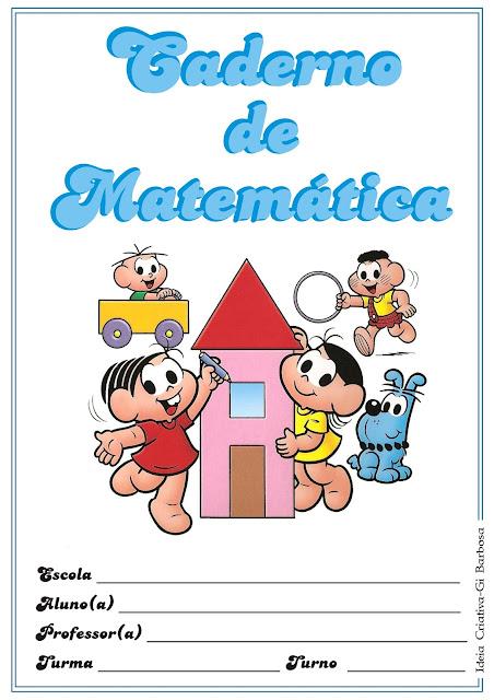 Capas para Caderno Turma da Mônica Coloridas