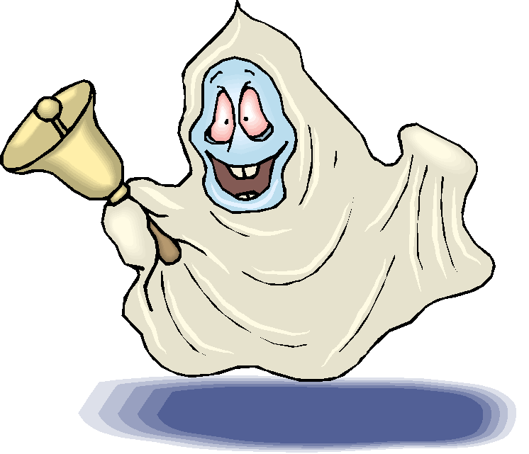 Ghost with a Bell Free Clipart