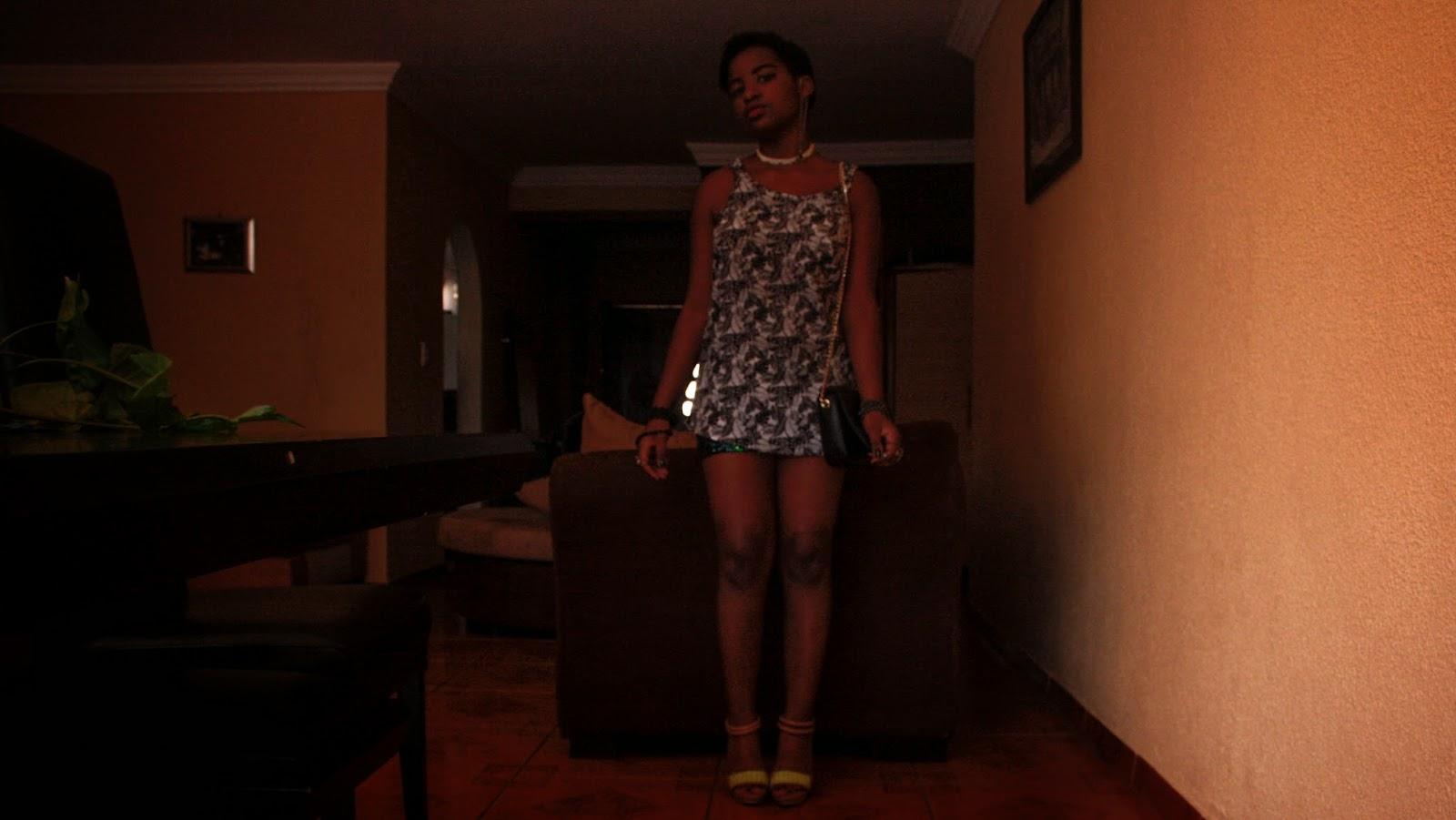 sixties mod pixie cut and shift dress
