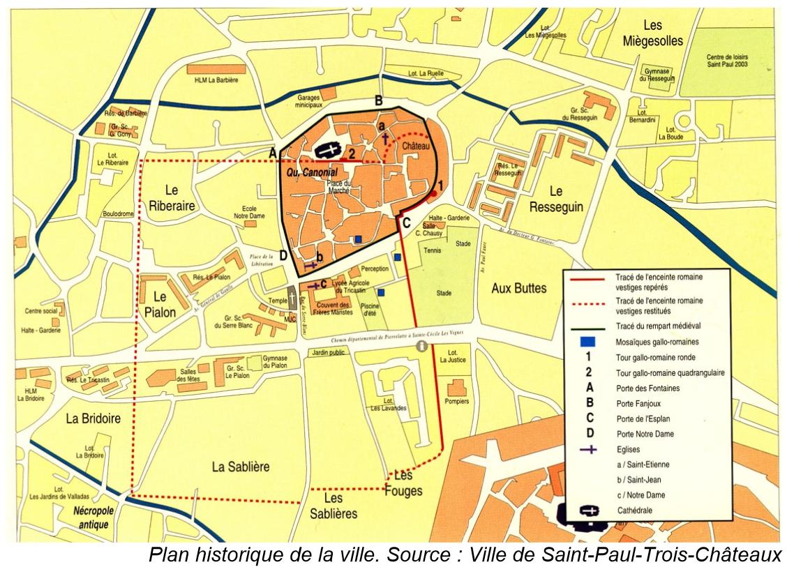 La france medievale saint paul trois chateaux 26 les - Office tourisme st paul trois chateaux ...