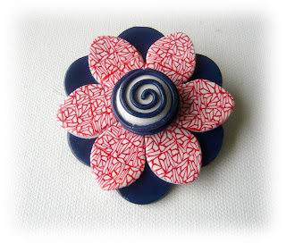 Jubilee Red White Blue Brooch