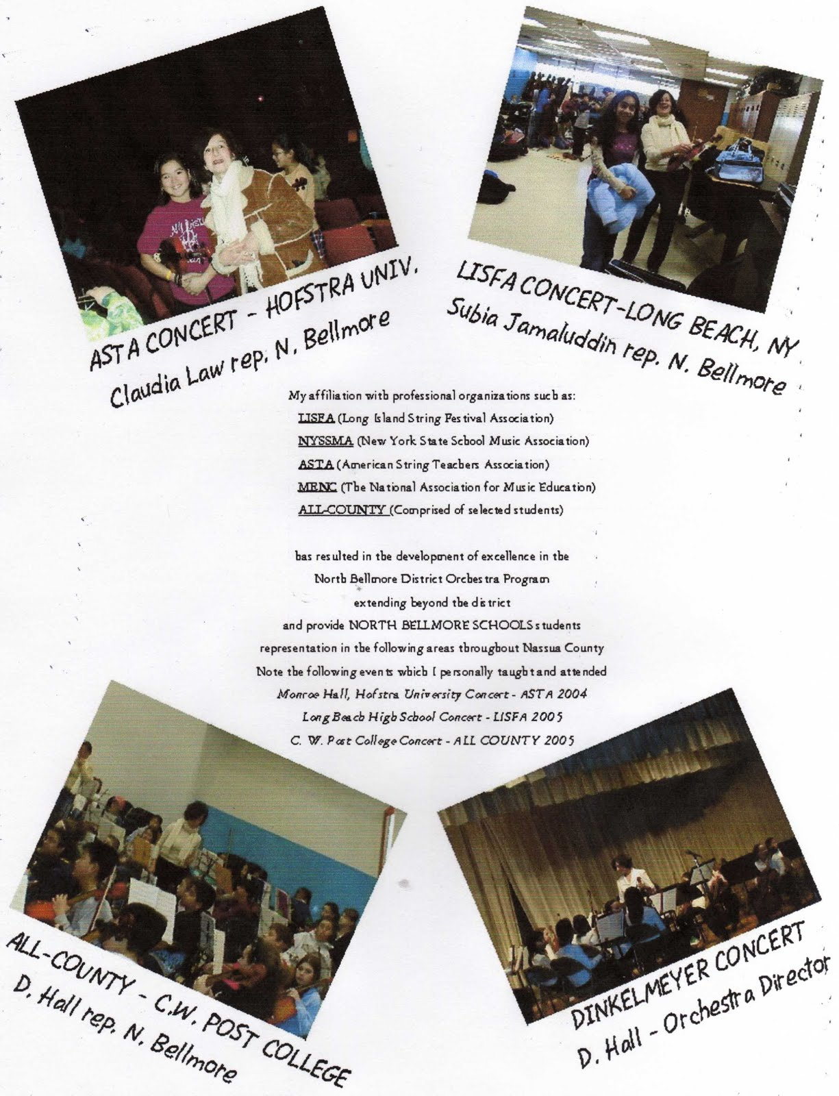 Kids in Extra-Curricular workshops and concerts from the North Bellmore District