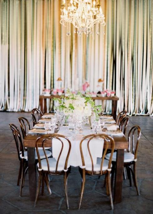 Wedding Ribbons Reception Decor