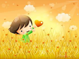 Love Heart Happy Kid wallpaper