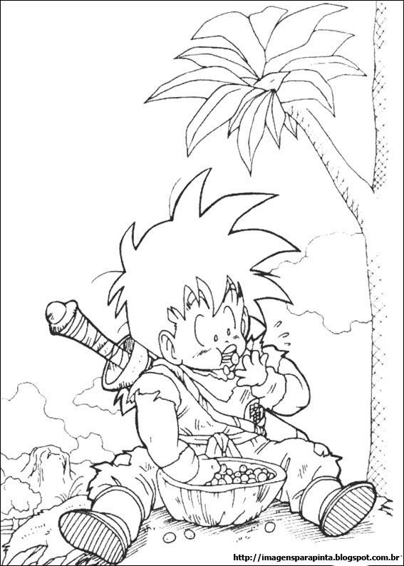 Desenho como desenhar dragon ball z goten pintar e colorir