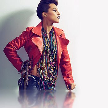 Alicia keys in Christie Brown