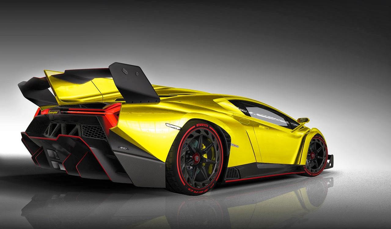 Mobil Keren Lamborghini Veneno Yellow