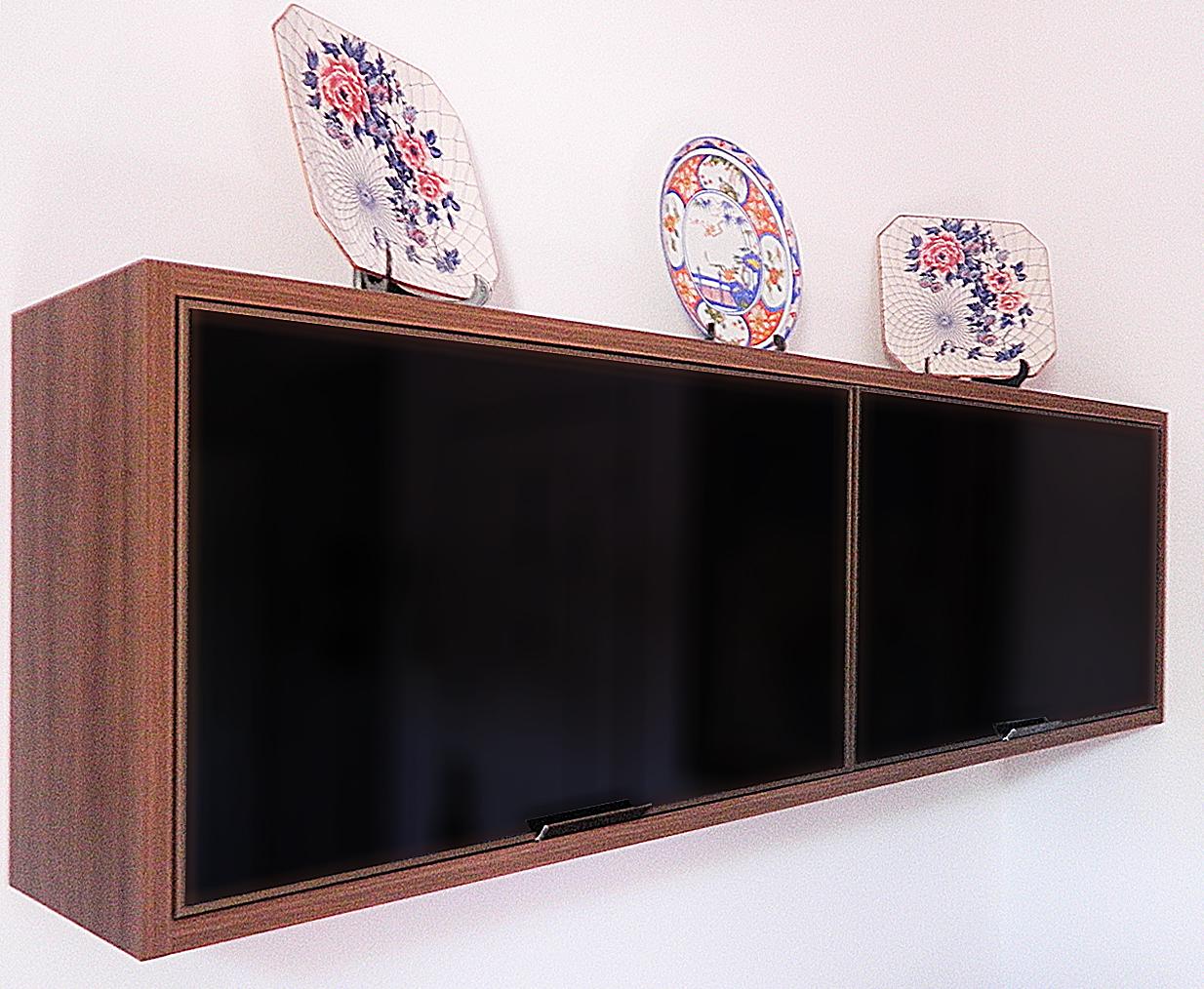 Detalhe do armário tamponado na cor ameixa e a moldura do vidro em  #894542 1234x1014