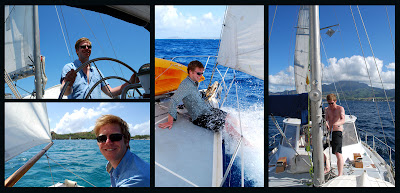 Crew sailing the Caribbean