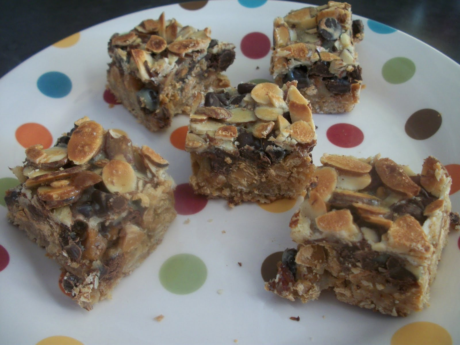 Cook with Sara: Chocolate Toffee Almond Bars