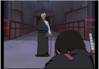 Danzo introduction, first time we see Danzo, Sai