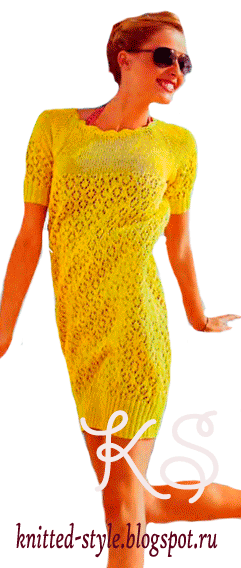 Короткое желтое платье