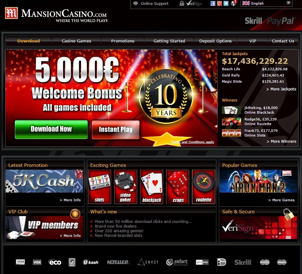 mansion online casino golden casino online