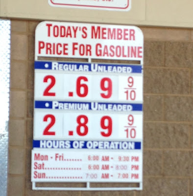Costco gas for Apr. 12, 2015 at the Costco in Hayward, CA