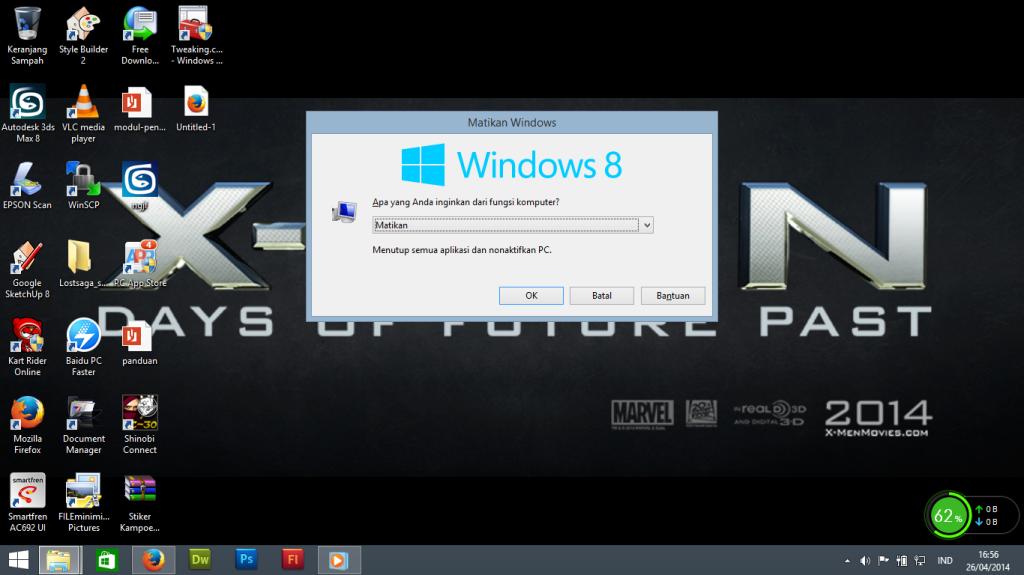 Solusi Gagal Shutdown Windows 8