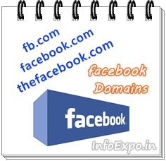 Domain names to acess facebook