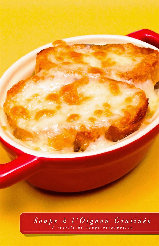 1 recette de soupe soupe l 39 oignon gratin e - Soupe a l oignon gratinee ...
