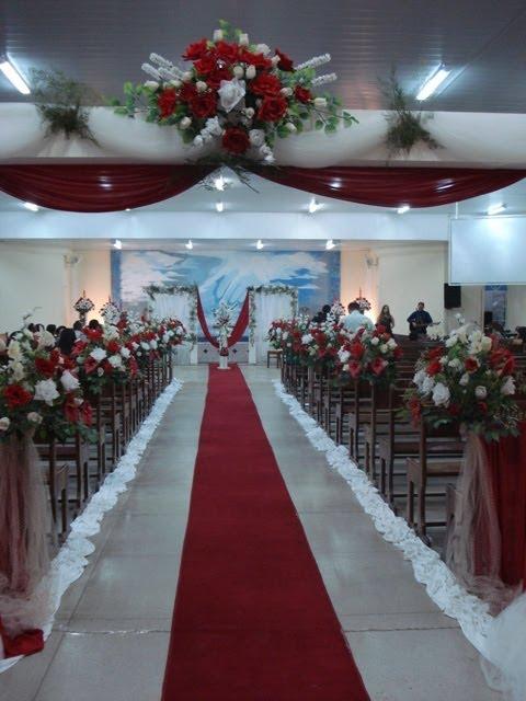 decoracao tudo branco:Tudo Perfeito: decoração de casamento em vermelho e branco