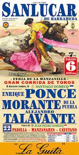 Sanlúcar de Barrameda - Feria de la Manzanlla 2015 - Cartel taurino