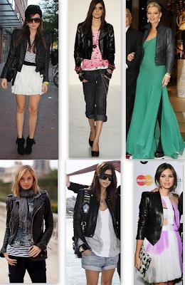 jaquetas de couro preta