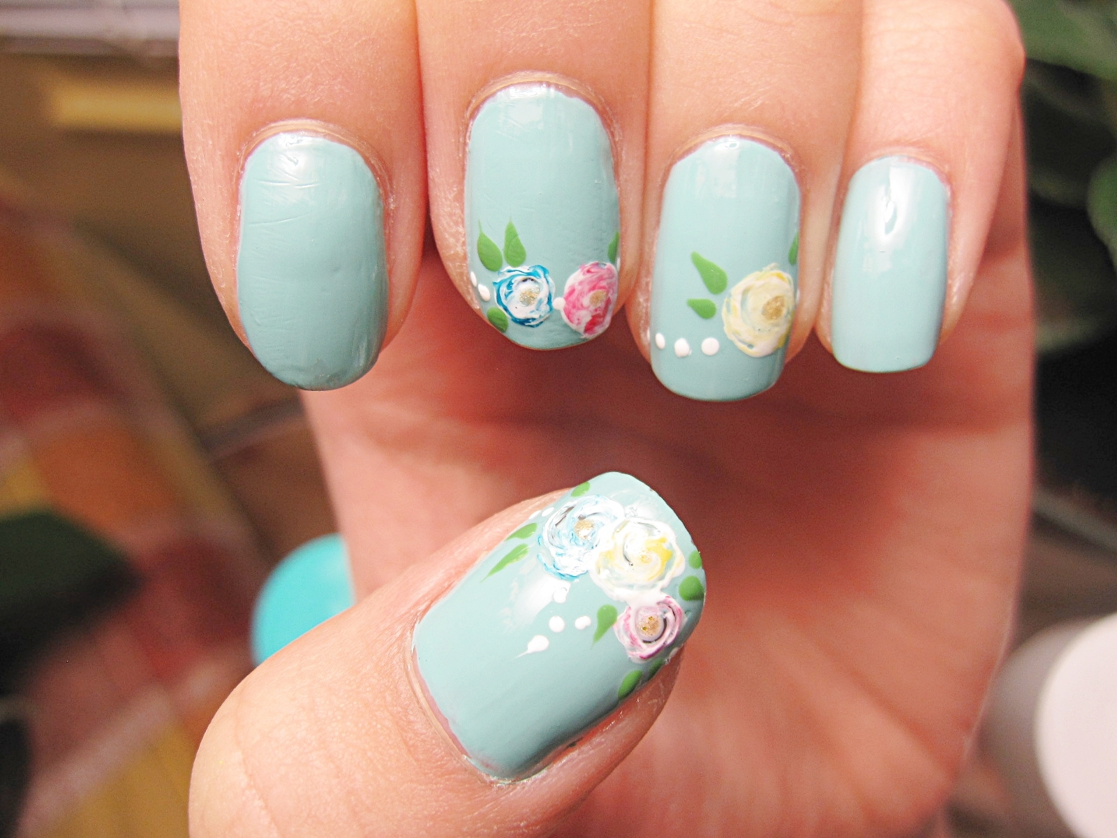 Nail Tutorial: Simplified Flower Bouquet