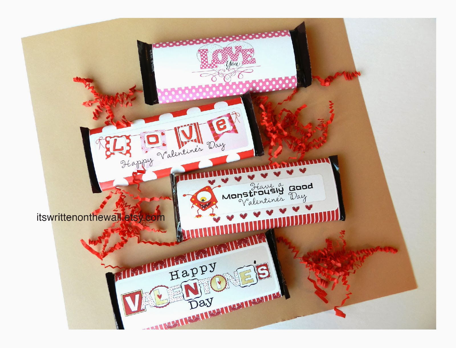 I have, more than once, put together a big card with candy bars attached and cute candy bar sayings. These are so much fun to do! There are so many different varieties of candy that you will be sure to find something that can suit your message.