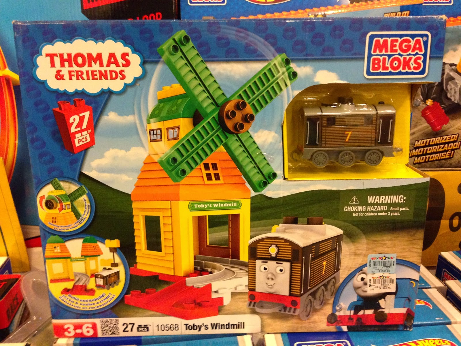 Thomas & Friends Mega Bloks on Sale in Manila, Philippines.  Toys R' Us and Toy Kingdom (Toby's Windmill)