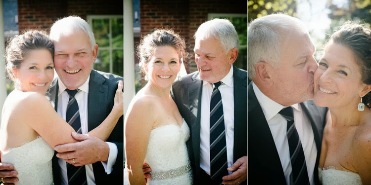 bride together with her dad on her wedding day