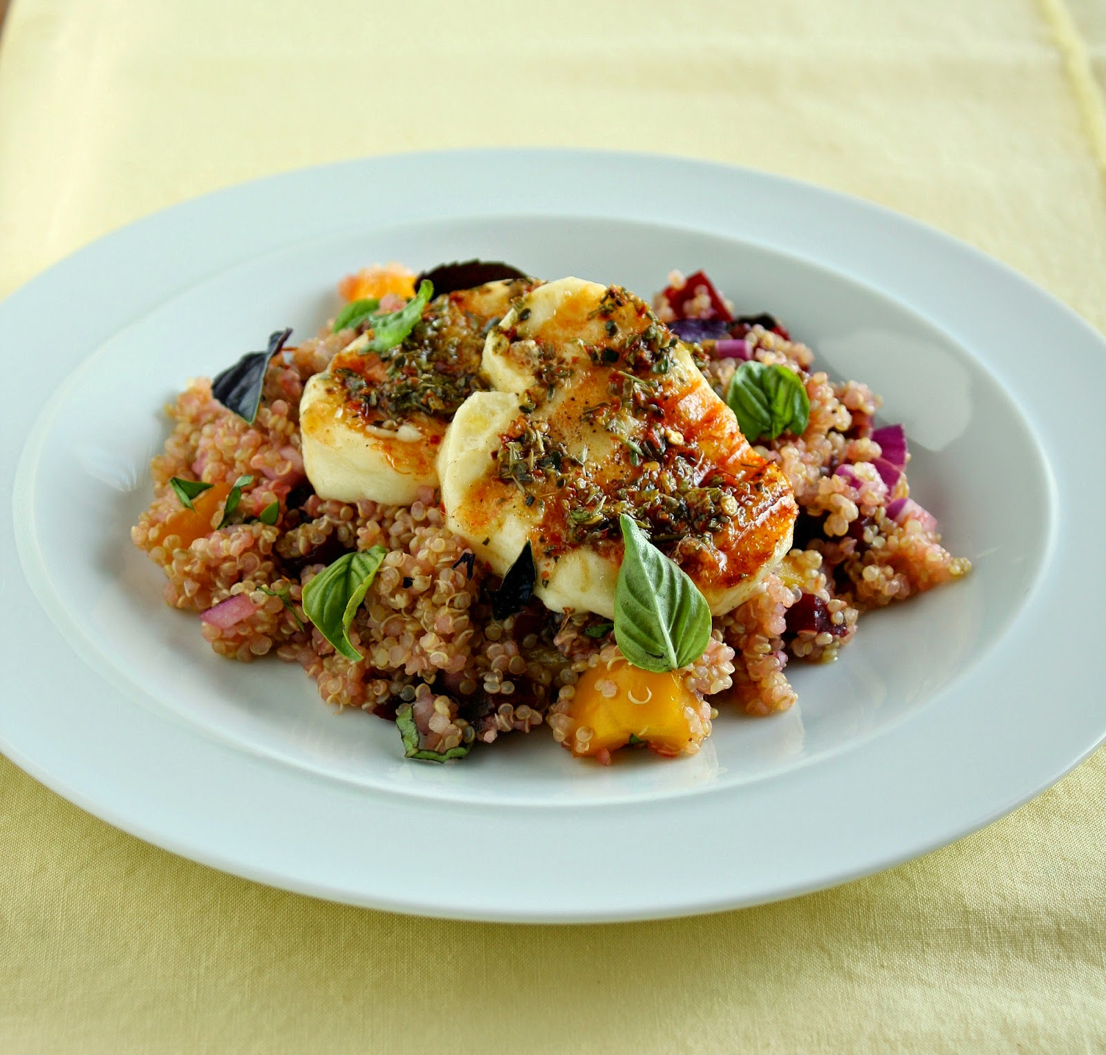 grilled halloumi with quinoa & beetroot salad (& my struggle with ...