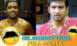 Silambattam Full Comedy   STR   Santhanam Comedy