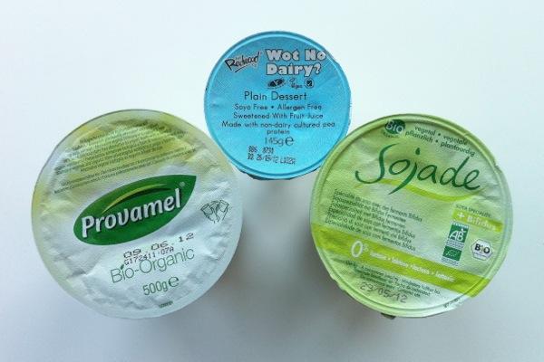 vegan yoghurts