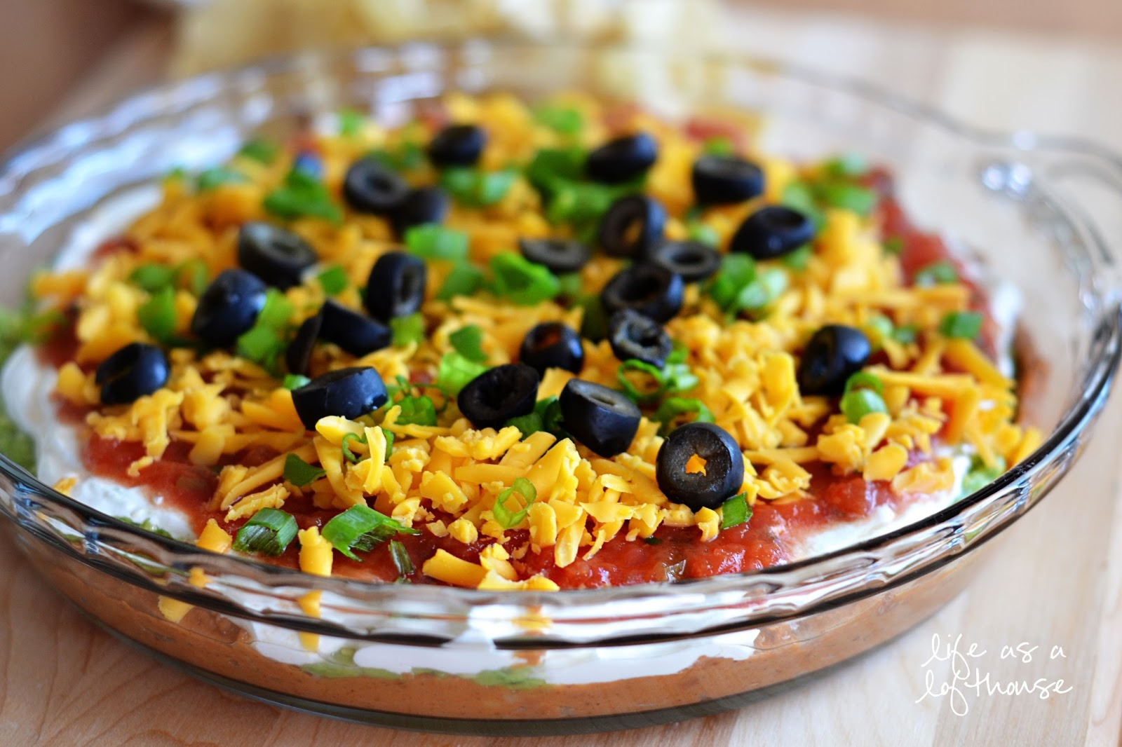 layer dip 7 layer bean dip seven layer taco dip classic from a can 7 ...