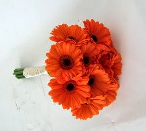 bouquet of orange gerbera daisies