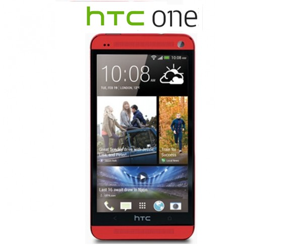 HTC One M7 Red Color Smartphone