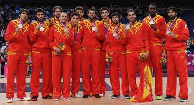 medalla de plata Selección española de Baloncesto masculino Juegos Olímpicos de Londres 2012