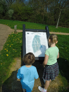 Top Ender and Baby Boy look at the Shenley Wood Map