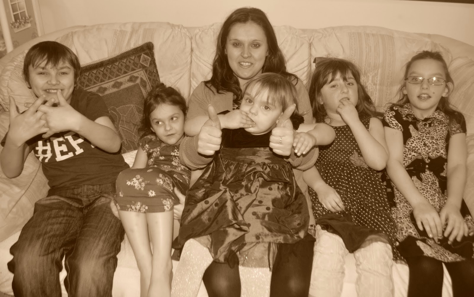 Aunty Siblings Cousin Family Portrait Sepia Photography