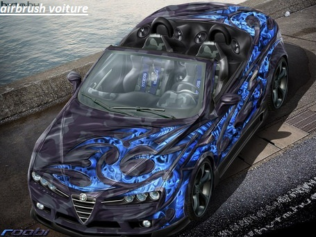 moglichkeit airbrush voiture m tal airbrush corps publicit d coration. Black Bedroom Furniture Sets. Home Design Ideas