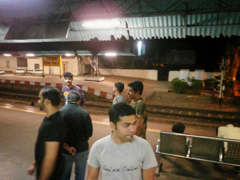 The train halted at Titwala station for a long time