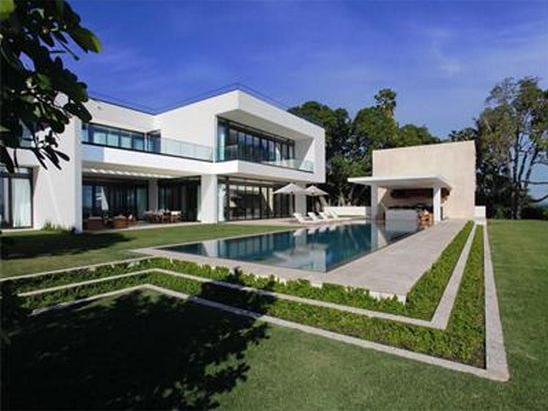 photo of alex rodriguez a-rod miami beach home mansion property real estate house exterior
