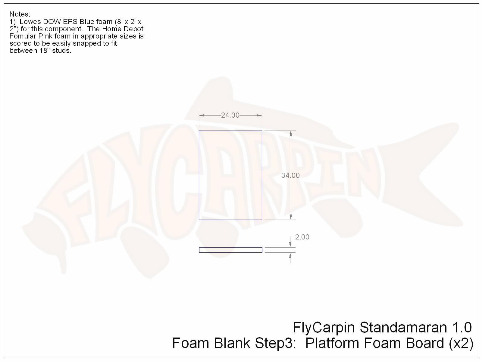 Standamaran SUP Plans Foam Blank Step 3